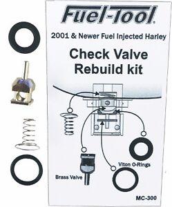 NEW Fuel Tool - MC300 - EFI Check Valve Rebuild Kit FREE SHIP  HARLEY