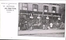 Ilford. W.Sutton's Stores, 387 High Road. Shop.