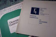 GIUSEPPE GUERRESCHI 2 LIBRETTI MOSTRE: GALLERIA DEI LANZI 1971, ALESSANDRIA 1977