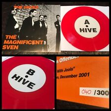 "THE HIVES Magnificent Sven 7"" Red Vinyl 300-punk randy rancid bad religion"