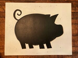 Pig Chalkboard Sign Kitchen Home Decor Message Board New View Gifts