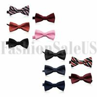 5pcs Classic Children Boys Adjustable Tuxedo Wedding Party Bow Tie Necktie Set