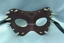 PU Leather Masquerade Ball Costume Prom Halloween New Year Eve Party Spike Mask
