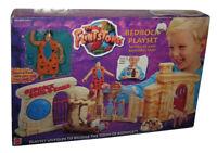 The Flintstones Town of Bedrock (1993) Mattel Toy Car Bendable Figure Playset