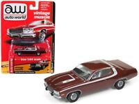 1974 Plymouth Road Runner Burnished Red Poly with White Stripes Diecast Car by A