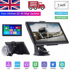 7'' Car Truck Sat Nav GPS Navigation 8GB Free Lifetime UK&EU Maps Touch Screen