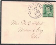 1902 Miamisburg, Ohio Duplex Cancel on a Black-bordered Mourning Cover ~