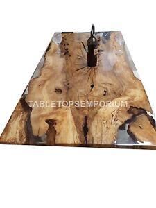 Smart Epoxy table | Acacia Epoxy resin table |Smart Oak dining table | Oak table