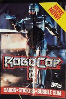 1990 TOPPS ROBOCOP 2 TRADING CARDS PROMO POSTER NICE