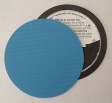 magnetic tax disc holder BLUE carbon fibre fits kia lamborghini lancia audi bmw