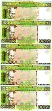 New listing Lot, Guinea, 5 x 500 Francs, 2006, P-39, Unc > colorful