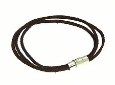 Brown Leather Multi Strap Bracelet Wristband Surf Surfer