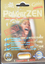 6 Pack PowerZen GOLD 3000 Male Sexual Performance Enhancement 100% ORIGINAL