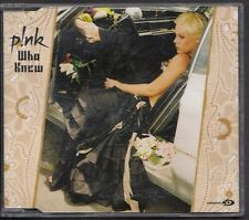 PINK Who Knew 3 track CD MAXI ENHANCED W VIDEO TR