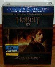 EL HOBBIT TRILOGIA 3D EDICION EXTENDIDA 6 BLU-RAY 3D+9 BLU-RAY NUEVO PRECINTADO