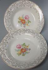 "TRIUMPH china MEISSEN ROSE 1TS2561 Set of Two (2) Soup/Salad Bowls @ 8-1/4"""