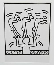Keith Haring Untitled Lithograph from Lucio Amelio suite 1983 original great inv