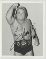 Greg The Hammer Valentine Autograph Pre Print Wrestling Photo 8x6 Inch