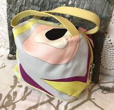 Emilio Pucci Multicolored Abstract Satchel Small Nylon Handbag Italy