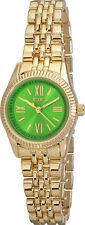 XOXO Watch Women's Watch XO5780 Green Dial Gold Tone Bracelet Petite Watch