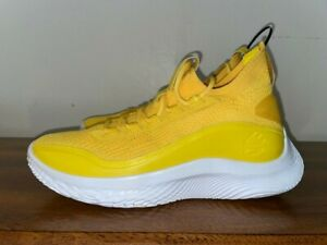 NEW UNDER ARMOUR CURRY FLOW 8 Basketball Shoes Men's Sz 10.5 Butter 3023085-701