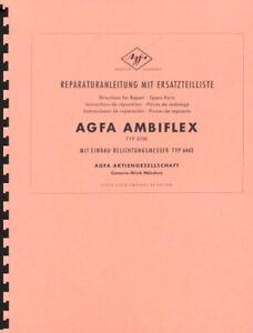 Agfa Ambiflex TYP 3100 Service & Repair Manual Reprint (multi-language)