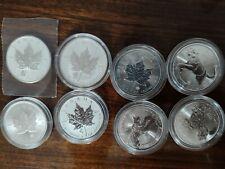 8 x 1oz  Canada Mix Maple Leaf- Privy -Predator Silber ,9999