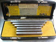 Doall Precision Rectangular Steel Large Long Gage Gauge Block Set Complete