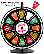 """24"""" Insert Your Own Graphics Prize Wheel with Black Magnetic Frames"""