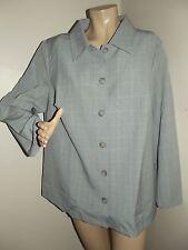 Womens PLUS SIZE 2X GRAY PLAID SUIT JACKET coat blazer BUTTON FRONT (22W-24W)