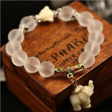 Fashion Natural Matte Crystal Elephant Stone Bead Women Man Bracelet Jewelry