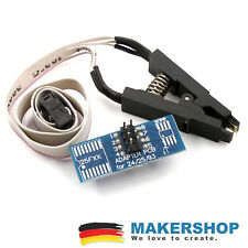 Prueba paréntesis SOIC 8 sop8 esp8266 ICS BIOS/24/25/93 AVR Programmer clip adaptador...