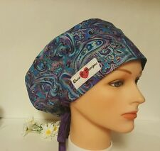 PURPLE PARSLEY   / HAT PIXIE / SCRUB / MEDICAL CHEMO / CAP