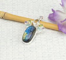 Bergkristall Echtschmuck-Halsketten & -Anhänger aus Sterlingsilber
