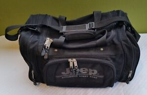 JEEP Authentic Sport Gear Travel Equipment Duffle Bag Black