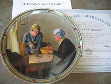 A Family'S Full Measure Rockwell Collector Plate American Dream Coa 14154D