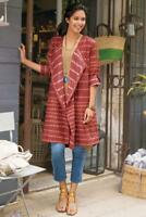 SOFT SURROUNDINGS Tea House Topper Kimono- Cajun Red-NEW- SZ XLarge