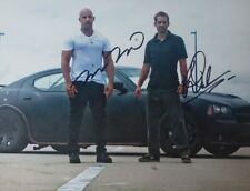 Paul Walker And Vin Diesel Autographed 8 1/2 X 11 WITH COA