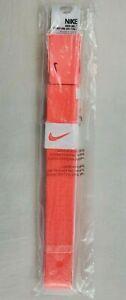 Nike Golf Women's Tech Essentials Web Belt Adjustable Size Hot Lava Orange New