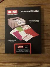 Uline Premium 200 CD/DVD labels for Laser/Inkjet printers Matte White S-8076