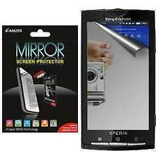 AMZER Mirror Screen Protector with Cleaning Cloth for Sony Ericsson Xperia X10