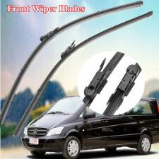 "28"" + 26"" Front Windshield Wiper Blades Flat Aero for MERCEDES VITO w639 2006-14"