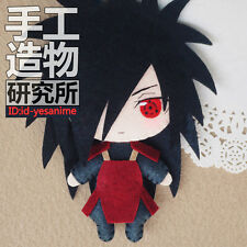 NEW NARUTO Uchiha Madara Anime Handmade Plush Doll Toy Keychain Bag Cosplay Gift