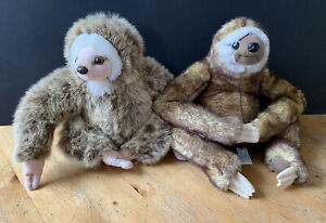2 x Sloth Plush Soft Toys - Paws & Suma Collection
