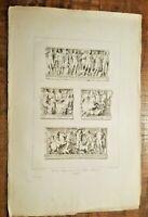 ENGRAVING - Tombeau Antique Conserve dans l'eglise Cathedrals  - CA 1785