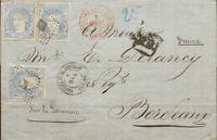 Spanien Cataluña. Geschichte Postal. Umschlag 107 (3) . 1872. 50 Mils Übersee