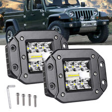 2 X 39W Spot Flood Led Work Light Car Truck Lamp SUV Flush Mount Bumper offroad
