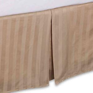 Wamsutta® 500-Thread-Count PimaCott® Damask Cal King Bed Skirt in Stripe Taupe
