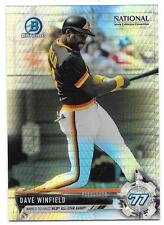 Dave Winfield 2017 Bowman Chrome National Sports Collector Prizm Refractor NSCC