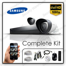 Samsung 8 Channel CCTV KIT DVR 2 Bullet CAMERAS Outdoor Home Security SET 2TB